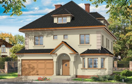 House plan Agate - front visualization
