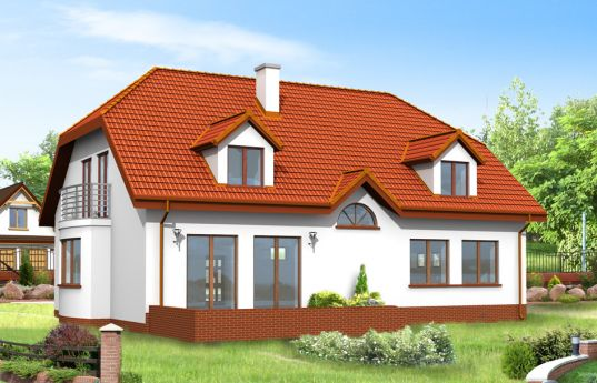 House plan Acacia - rear visualization