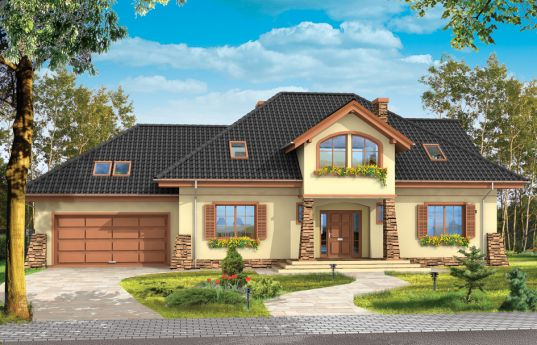 House plan Benedict 4 - front visualization