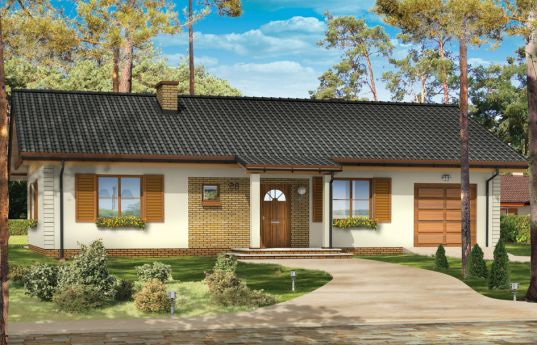 House plan Amber - front visualization