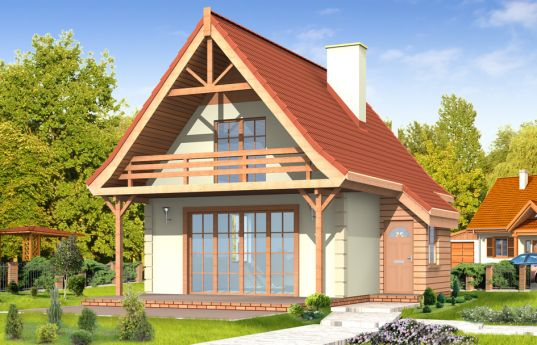 House plan Cottage - front visualization