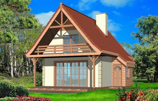 House plan Cottage - front visualization 2