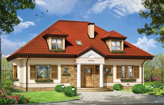 House plan Hetman - front visualization