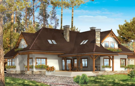House plan Ash tree - rear visualization