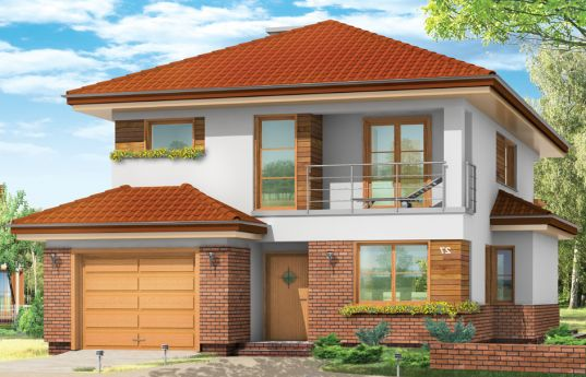 House plan  Cassiopeia - front visualization