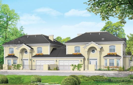 House plan Komorow - front visualization