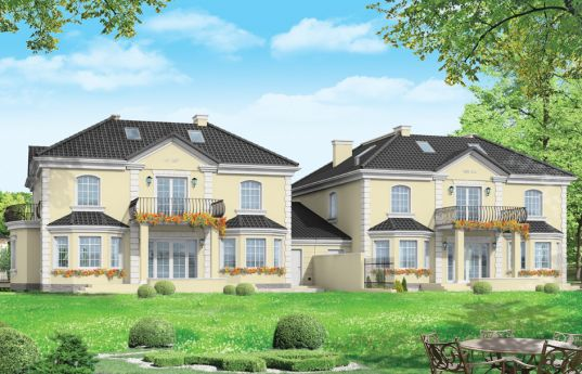 House plan Komorow - rear visualization