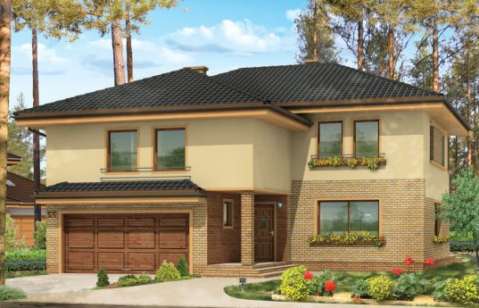 House plan Coral - front visualization