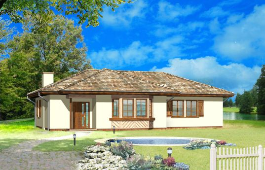 House plan Kujawiak - front visualization