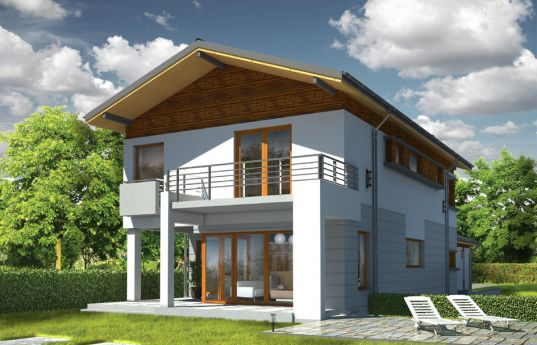 House plan Lugano - rear visualization