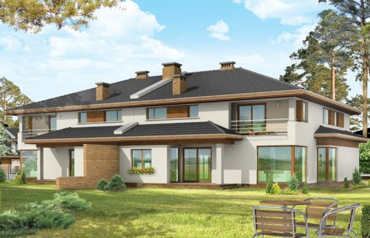 House plan Neptun - rear visualization
