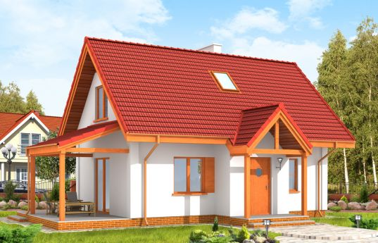 House plan Okruszek - front visualization