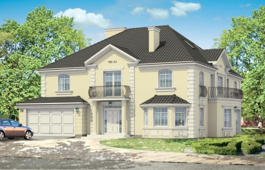 House plan Falcon - front visualization