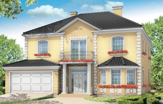 House plan Stylish - front visualization