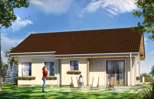House plan Cypisek 2 - rear visualization