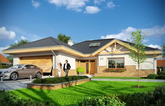 House plan Extensive - front visualization