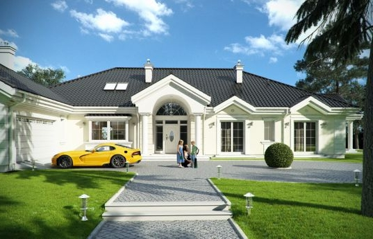 House plan Park Residence - front visualization 2