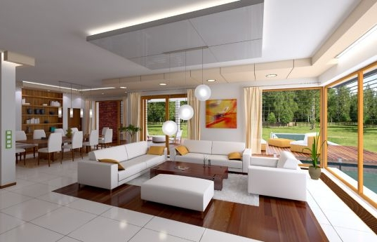 House plan Villa with pool - interior fot 1