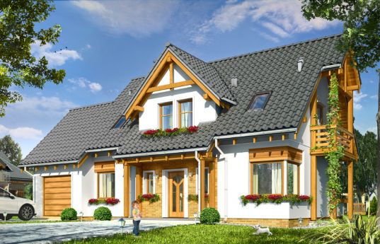 House plan Bartek - front visualization