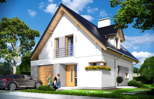 House plan On your own - front visualization