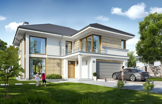 House plan Riviera 5 - front visualization
