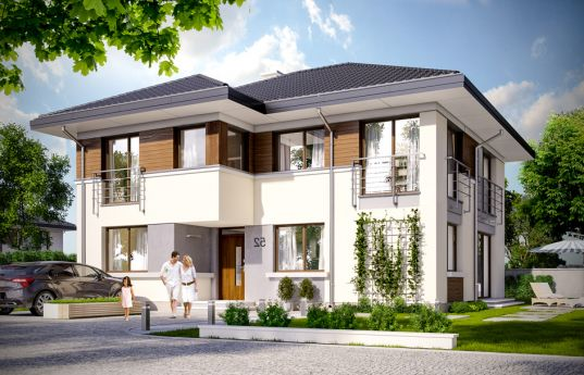 House plan Titan 2 - front visualization