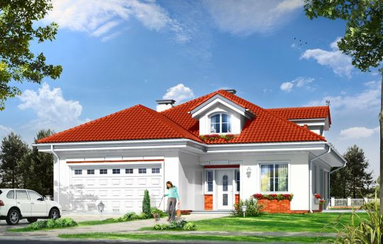 House plan Aphrodite - front visualization