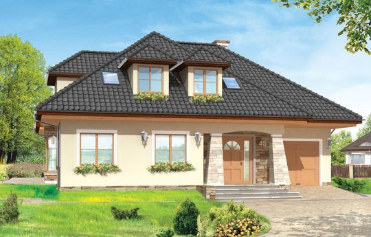 House plan Agnes 2 - front visualization