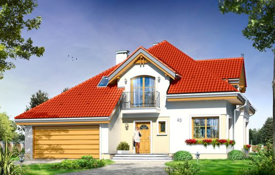 House plan Amadeus - front visualization