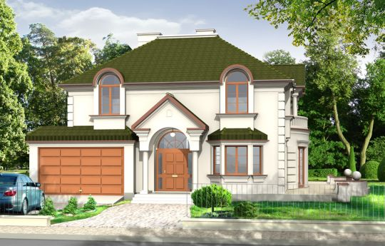 House plan Ambassador - front visualization