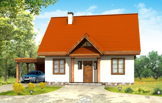 House plan Fairytale - front visualization