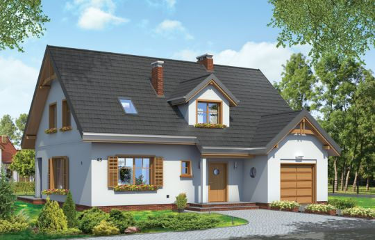 House plan Candy - front visualization
