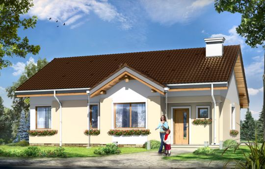 House plan Cypisek 2 - front visualization