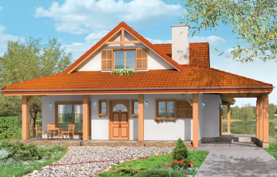 House plan Heron - front visualization