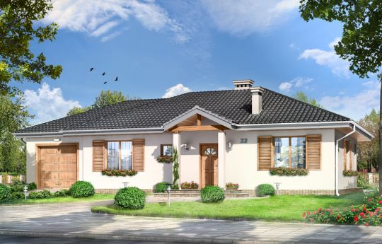 House plan Czarus - front visualization