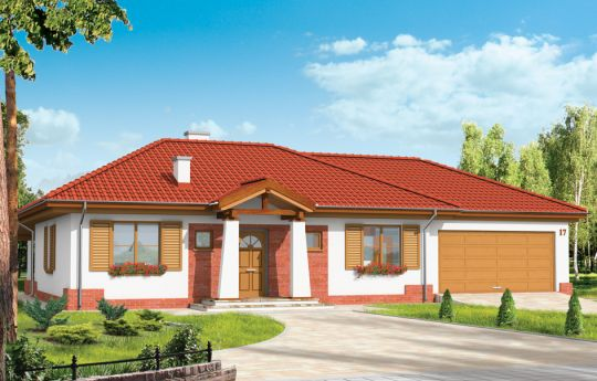 House plan Four corners - front visualization