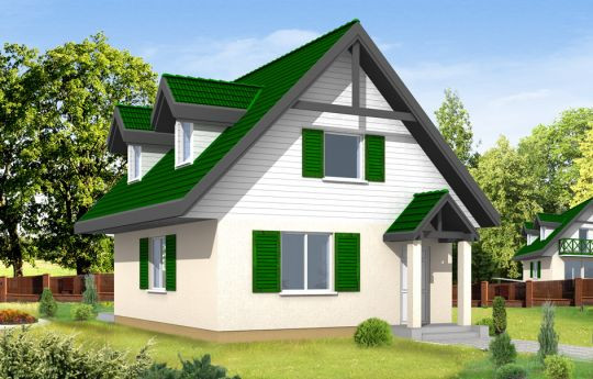 House plan D03 - front visualization