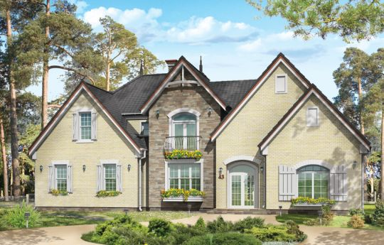 House plan Dallas - front visualization