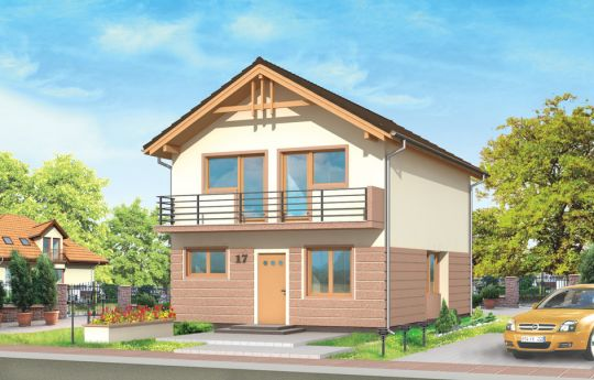 House plan with one floor - front visualization