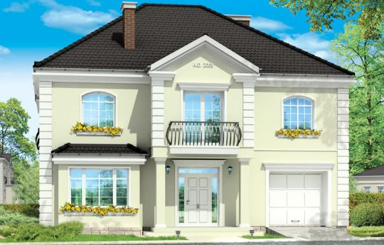 House plan Elegant - front visualization