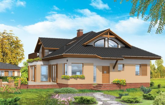 House plan Family - front visualization