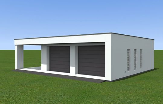 Garage BG11 - front visualization