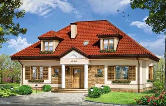 House plan Hetman - front visualization
