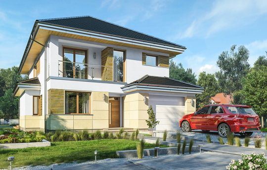 House plan Cassiopeia 8 - front visualization