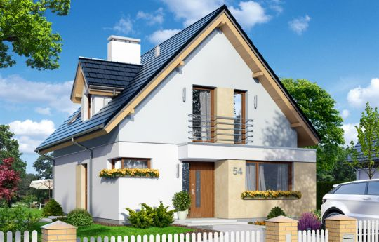 House plan On your own 2 - front visualization