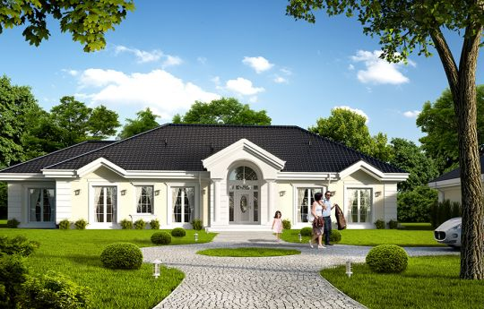House plan Park Residence 4 - front visualization