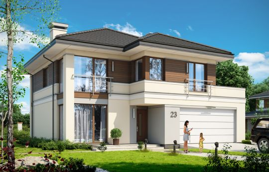 House plan Titan 3 - front visualization
