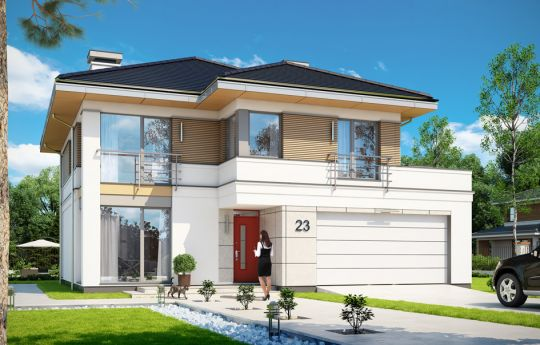 House plan Titan 4 - front visualization
