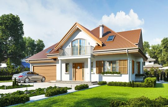 House plan Villa Julia - front visualization