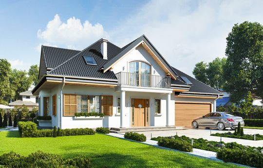 House plan Villa Julia - front visualization 2